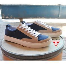 Sepatu Sneakers Sporty Pria Trendy Best Seller - FELLAS ROWLEY - Navy