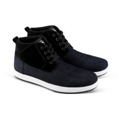 Sepatu Sneakers V 505 Sepatu Kets model Boot dan Casual Pria - Hitam