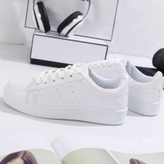 Sepatu Sneakers Wanita Bolong Samping 2 - Terbaru - Warna Putih