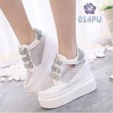 Cuci Gudang Sepatu Sneakers Wedges Boots Wanita Line Glitter Putih Tre Bs