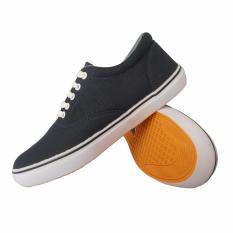 Jual Sepatu Sneakers Kets Casual Pria Navy Biru Donker Sepatu Murah Asli