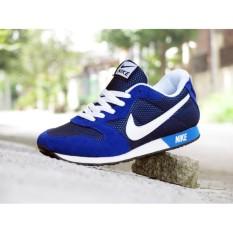 Sepatu Sport Nke Waffle Trainer Biru Putih / Casual / Kets / Joging / Murah