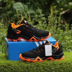 Toko Sepatu Sport Pria Ax2 Black Orange Men Shoes Olah Raga Shoes