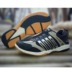 Harga Sepatu Sport Running Badminton Airquila Black Asli Universal