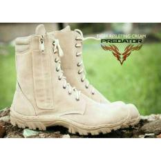 Sepatu Tactical Delta Safety Gurun Army Polisi Tni Pdl Loreng Cream - 73A5de