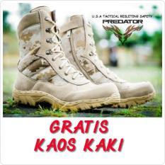 Sepatu Tactical Delta Safety Gurun Army Polisi Tni Pdl Loreng Cream - C9B3E6