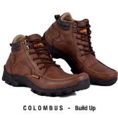 Sepatu Terbaru Boots Tracking/ Hiking Pria Pendaki - HUMMER COLOMBUS - Hitam - Coklat - Kuning - Army - Cream