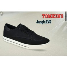 Sepatu tomkins pria JUNGLE CVS blk/wht