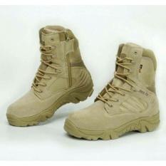 Jual Beli Online Sepatu Touring Hiking Delta Gurun Taktikal Tactical Boots Quality Equipment Tinggi 8 Inchi