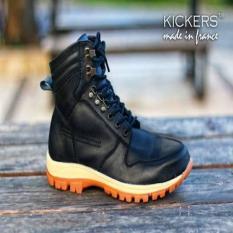Sepatu Touring-Mudik Kickers ARL Black Original Hand Made Leather