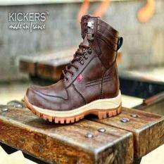 Sepatu Touring-Mudik Kickers ARL Brown Original Hand Made Leather