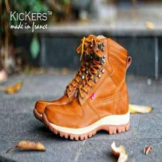 Sepatu Touring-Mudik Kickers ARL Tan Original Hand Made Leather Safety