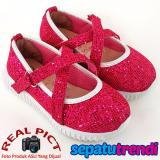 Spesifikasi Sepatu Trendi Sepatu Anak Bayi Perempuan Glitter Vp030 Fuchsia Dan Harga