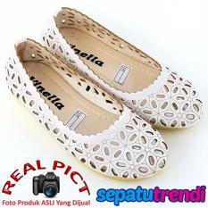 Beli Sepatu Trendi Sepatu Anak Perempuan Flat Shoes Laser Vn04 Putih Murah