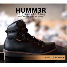 Sepatu Trendy Boots High Vibram Sol Pria Modern - HUMMER PLUTO - Hitam - Coklat - Kuning