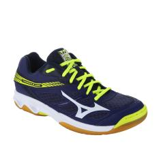 Sepatu voli Mizuno Thunder Blade - Blue Depths  White  Safety Yellow
