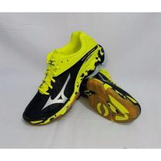Spesifikasi Sepatu Voli Mizuno Wave Lightning Z2 Hitam Silver Kuning Yang Bagus Dan Murah