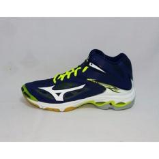 Sepatu voli Mizuno Wave Lightning Z3 Mid - Biru Putih