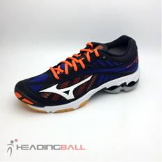 Sepatu Volley Mizuno Original Wave Lightning Z4 Black Blue V1GA180024