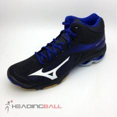 Sepatu Volley Mizuno Original Wave Lightning Z4 MID Black V1GA180582