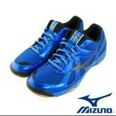 Sepatu Volly Mizuno V1ga157094  Wave Twister 4 - Strong Blue / Black - Dbca3e
