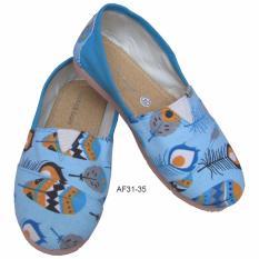 Sepatu Wakai Anak Motif Bulu Merak Size 31-35