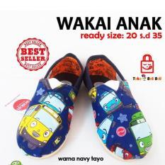Sepatu Wakai Anak - Warna Navy Tayo.