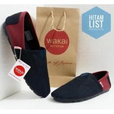 Sepatu Wakai Black Red / Sepatu Casual Wakai / Sepatu Wakai Terbaru Termurah
