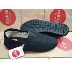 Sepatu wakai murah unisex full hitam