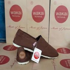 Toko Sepatu Wakai Pria Warna Coklat Polos Unisex Multi Indonesia