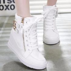 Harga Sepatu Wanita Boots Wedges Warna Putih Boots Indonesia