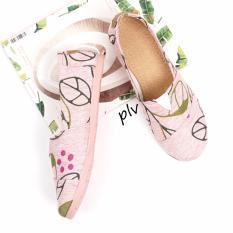 Sepatu Wanita Flat Shoes Slip On Kanvas Ns55 Floral Salem Pluvia Diskon 40