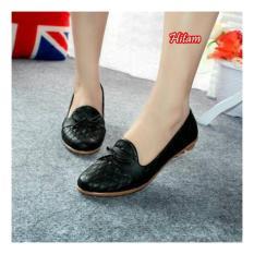 Spesifikasi Sepatu Wanita Flatshoes Debby Motif Black Online
