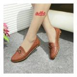 Sepatu Wanita Flatshoes Debby Motif Coklat Banten