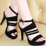 Cuci Gudang Sepatu Wanita High Heels Flo Black Uk 36