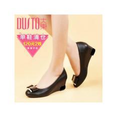 Sepatu Wanita Kerja Pantopel Pantofel Hitam Pita Emas bde59d9fe5