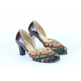 Jual Sepatu Kulit Asli Heels Wanita Nyaman Kantor Kerja Pesta Bridal Branded Cassandra Christline Leather Shoes Indonesia