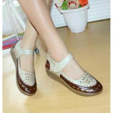 Jual Beli Online Sepatu Wanita Murah Laser Sintetis Cream Nfz 803