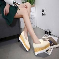Sepatu Wanita Sepatu Batam Fashion Elsye Star Platform Shoes AC C01
