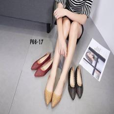 Sepatu Wanita Sepatu Batam Flat Monna Vania Havana AC#P66-17