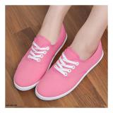 Toko Sepatu Wanita Slip On Sneakers Hwb22 Pink Hawabie Online