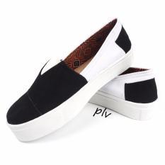 Promo Sepatu Wanita Slip On Sneakers Kanvas Wp46 Hitam Di Jawa Barat