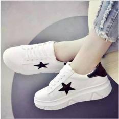 Spesifikasi Sepatu Wanita Sneakers Bintang Putih Murah Elfan Shop Dan Harga