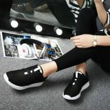 Jual Beli Online Sepatu Wanita Sneakers Hitam Jaring Murah
