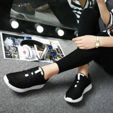 Jual Sepatu Wanita Sneakers Hitam Jaring Murah Branded Original