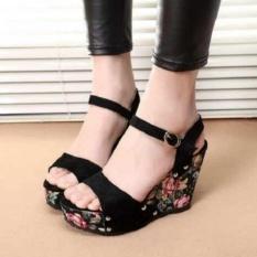 Sepatu Wanita Wedges Bunga Alf-SWWB-Alk-32-3740