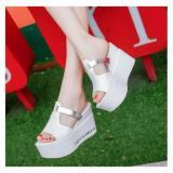 Harga Sepatu Wanita Wedges El73 Putih Oem Terbaik