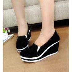 Sepatu Wanita wedges Palmino Black