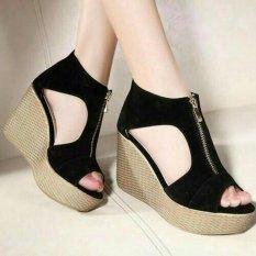 Sepatu Wanita Wedges Sleting