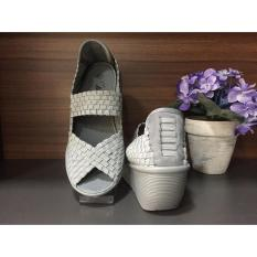 Beli Sepatu Wedges Import Korea Grey Cicilan